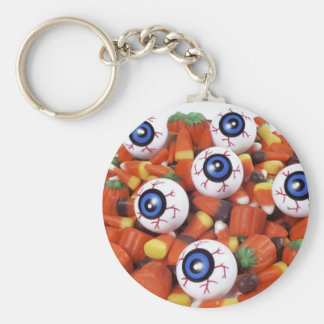 eye candy basic round button key ring