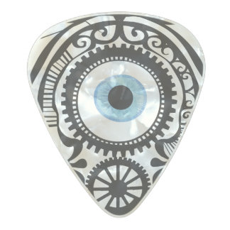 Eye Candy Blue Pearl Celluloid Guitar Pick