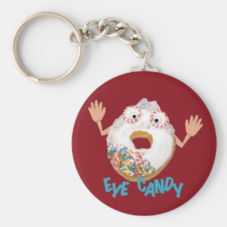 'eye candy'  humorous parody keychain
