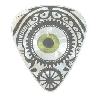 Eye Candy Olivine Pearl Celluloid Guitar Pick