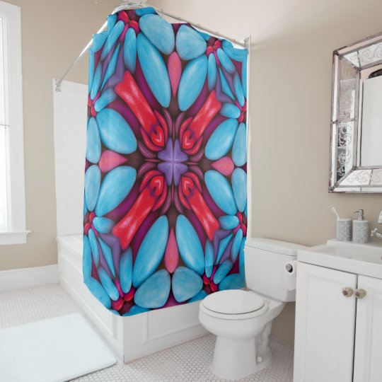 Eye Candy Pattern Vintage Shower Curtain