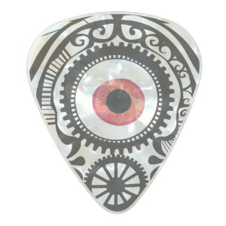Eye Candy Redeye Pearl Celluloid Guitar Pick