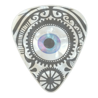 Eye Candy Ultraviolet Pearl Celluloid Guitar Pick