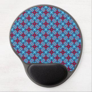 Eye Candy Vintage Kaleidoscope  Blue Gel Mousepad Gel Mouse Mat