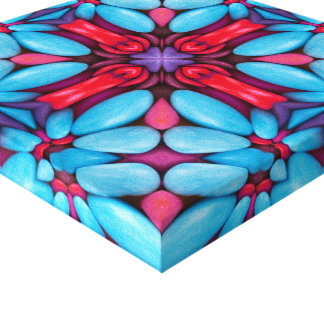 Eye Candy  Vintage Kaleidoscope  Wrapped Canvas