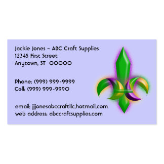 Eye-catching Glow Fleur-de-lis Business Cards Card