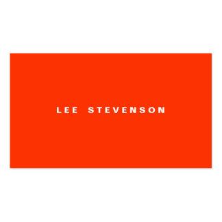 Eye Catching Modern Orange Minimalistic Pack Of Standard Business Cards