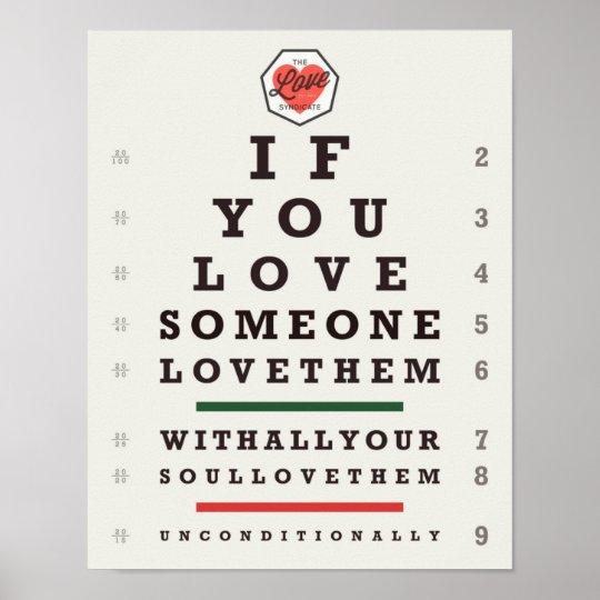Eye Chart (11 x 14) Poster