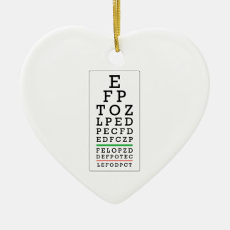 Eye Chart Christmas Ornament
