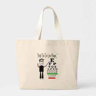 Eye Chart Eye Doctor Design Gifts Large Tote Bag