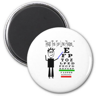 Eye Chart Eye Doctor Design Gifts Refrigerator Magnets