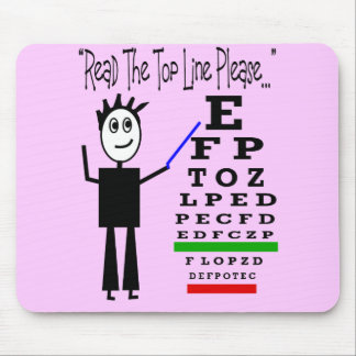 Eye Chart Eye Doctor Design Gifts Mouse Pads