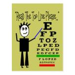 Eye Chart Eye Doctor Design Gifts Postcard