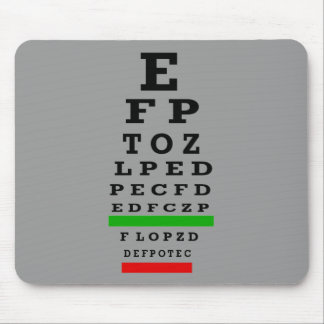 EYE CHART Gifts Mouse Pad