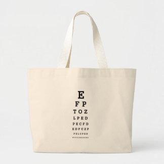 EYE CHART - Humor WTF RU READING Large Tote Bag