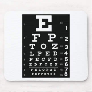 Eye Chart Mouse Mat