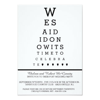 Eye Chart Post Wedding Reception Only Invitation
