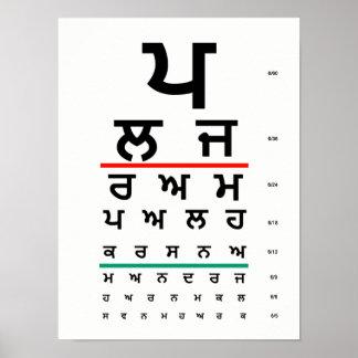 Eye Chart Punjabi