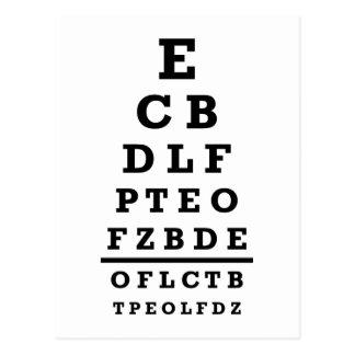 Eye chart test postcard