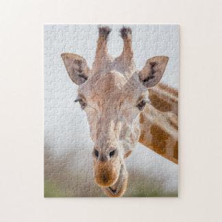 Eye contact with giraffe jigsaw puzzle