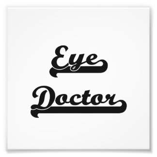 Eye Doctor Classic Job Design Photo
