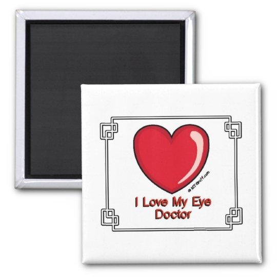 Eye Doctor Square Magnet