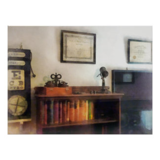 Eye Doctor's Office With Diploma Print