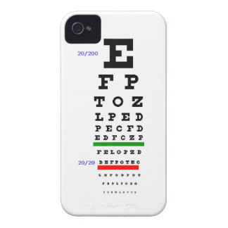 Eye Exam Chart iPhone 4 Case-Mate Cases