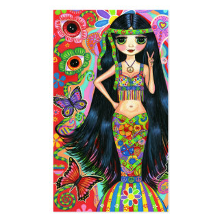 Eye Flower Peace Sign Cute Hippie Girl Pack Of Standard Business Cards
