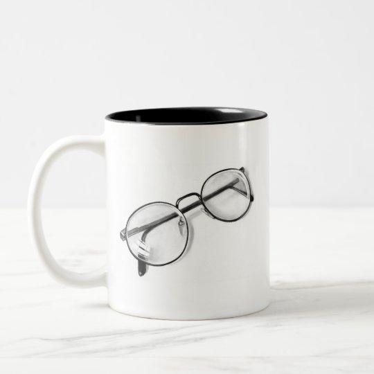 EYE GLASSES IN PENCIL: REALISM: MUG