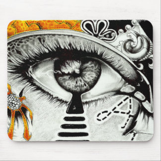 eye heart art mouse mat