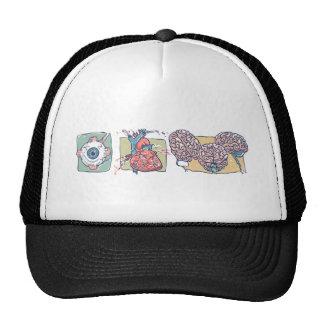 Eye Heart Brains Zombie Gear Hat