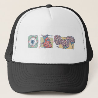 Eye Heart Brains Zombie Gear Trucker Hat