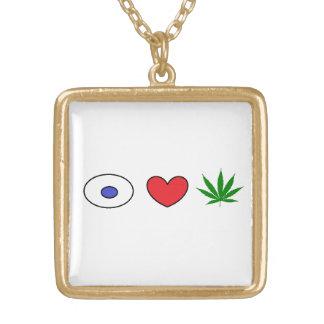 eye heart ganja necklace