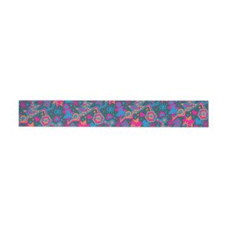 Eye heart pop art cool bright pink  pattern wraparound address label