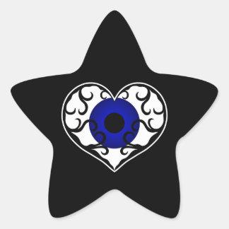Eye heart star star sticker