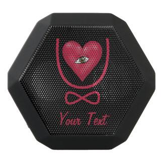 Eye heart U Customizable Text Black Boombot Rex Bluetooth Speaker