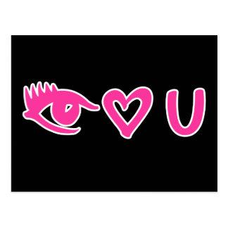 Eye Heart U Pink Postcard