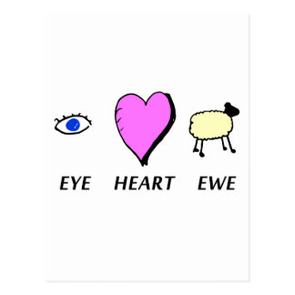 Eye Heart You Post Card