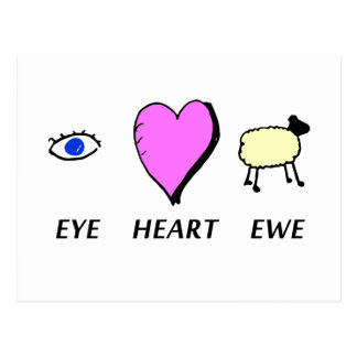 Eye Heart You Postcard