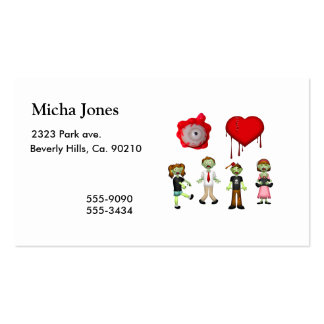 Eye Heart Zombies Pack Of Standard Business Cards