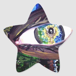 Eye In The Middle of the Forest Star Sticker