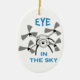 Eye In The Sky Ceramic Oval Decoration
