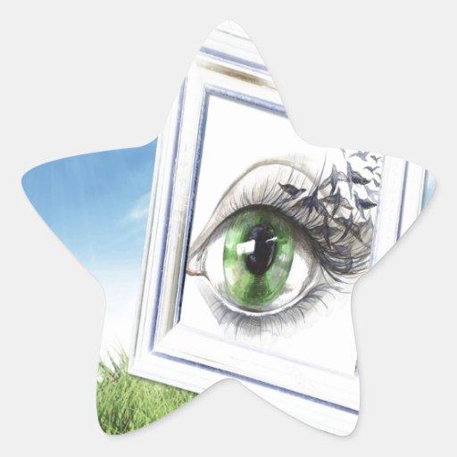 Eye in the Sky Star Stickers