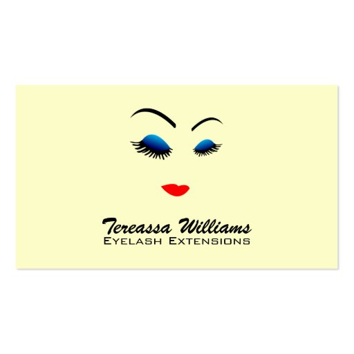 Collections of Eyelash Extensions Business Cards