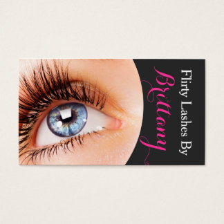 Eye Lashes Extensions Makeup Artist Cosmetologist Business Card