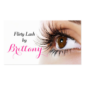 Eye Lashes Extensions Makeup Artist Cosmetologist Pack Of Standard Business Cards