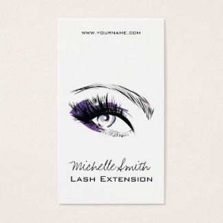 Eye long eyelashes Lash extension icon Business Card