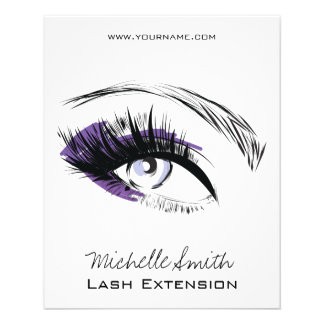 Eye long eyelashes Lash extension icon Flyer