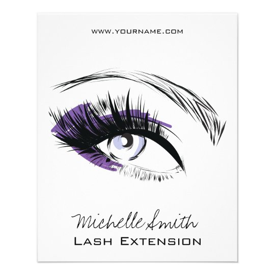 Eye long eyelashes Lash extension icon Flyer
